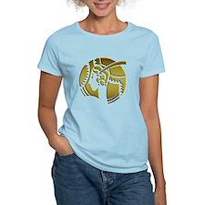 Golden Art Deco Lady Women's Light T-Shirt