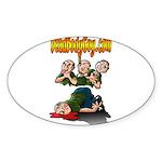 Official Dead Body Guy Oval Sticker