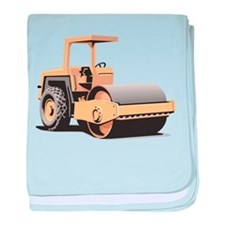Paving Machine baby blanket