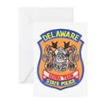 Delaware State Police Scuba T Greeting Cards (Pack