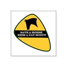 Save a horse ride a cav scout Sticker