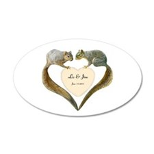 Love Squirrels Wall Decal
