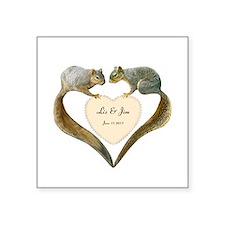 "Love Squirrels Square Sticker 3"" x 3"""