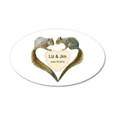 Love Squirrels Decal Wall Sticker
