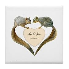Love Squirrels Tile Coaster
