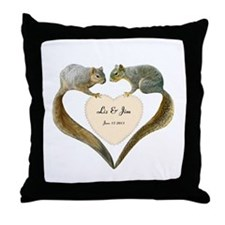 Love Squirrels Throw Pillow