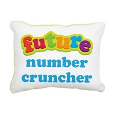 Future Number Cruncher Rectangular Canvas Pillow