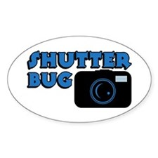 Shutterbug Blue Oval Decal