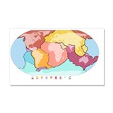 World tectonic plates, global map - Car Magnet 20
