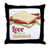 Love Me a Sammich Throw Pillow