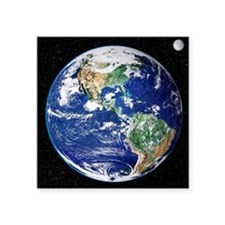 Earth from space, satellite image - Square Sticker