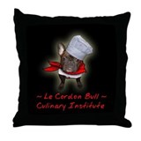 Le Cordon Bull Throw Pillow