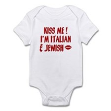 Kiss Me: Jewish & Italian Infant Bodysuit