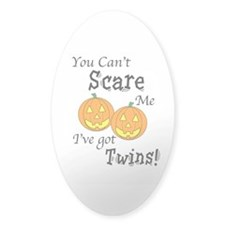 Can't Scare - Halloween Oval Decal