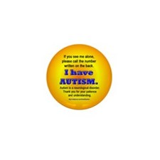 Cute Autism safety Mini Button (10 pack)