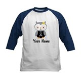 Personalized Gray Ribbon Owl Tee