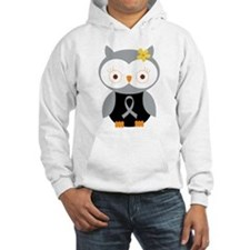 Gray Ribbon Awareness Owl Jumper Hoody