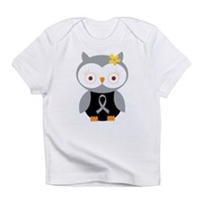 Gray Ribbon Awareness Owl Infant T-Shirt