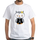 Gray Ribbon Awareness Owl Shirt