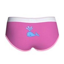 Whale. Blue. Women's Boy Brief