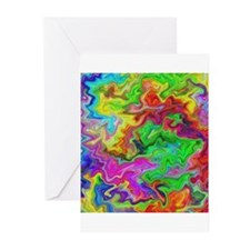 Bright Colorful Swirls. Greeting Cards (Pk of 20)