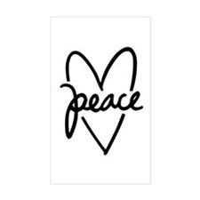 Peace Heart Decal