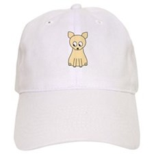 Cream Color Cat. Baseball Baseball Cap