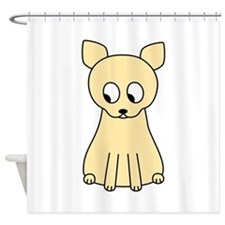 Cream Color Cat. Shower Curtain
