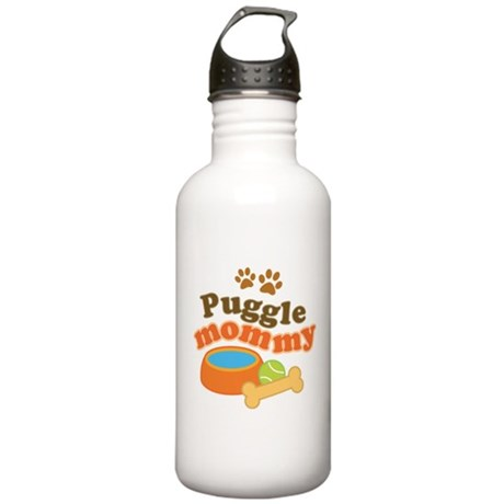 Puggle Mommy Dog Mom Stainless Water Bottle 1.0L