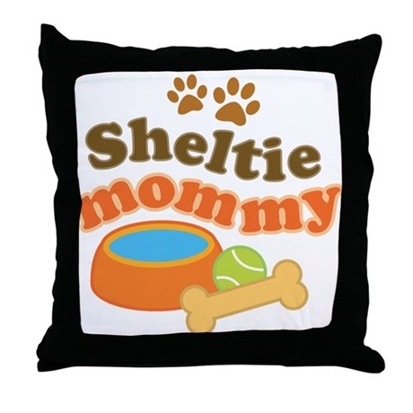 Sheltie Mommy Throw Pillow
