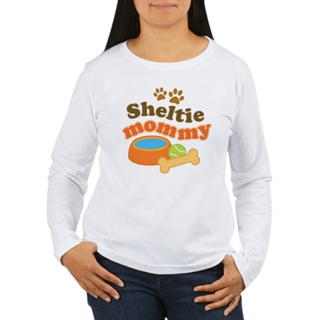 Sheltie Mommy Women's Long Sleeve T-Shirt