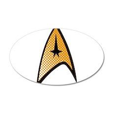 Star Trek Uniform Command Insignia halftone Wall D