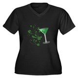 St. Patrick's Day Martini Women's Plus Size V-Neck
