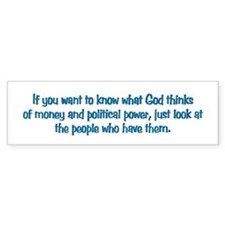Money & Power Bumper Bumper Sticker