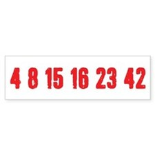 [Red] Lost Numbers Bumper Sticker