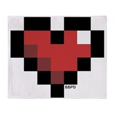 Pixel Heart Throw Blanket