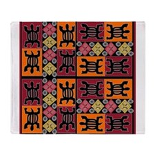 African Art Throw Blanket