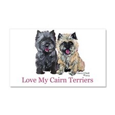 Love my Cairn Terriers Car Magnet 20 x 12