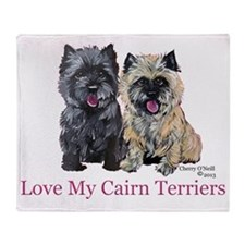 Love my Cairn Terriers Throw Blanket