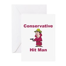 Conservative Hit Man Greeting Cards (Pk of 10)