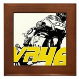 VR46bike3 Framed Tile