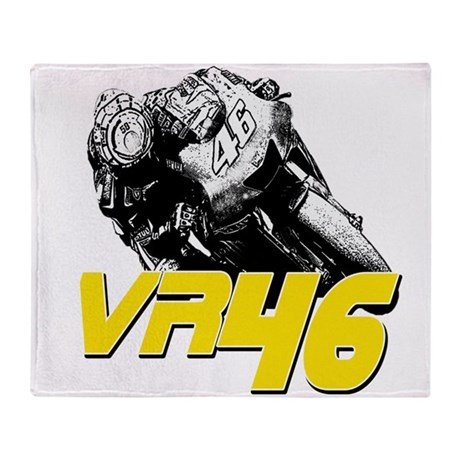 VR46bike2 Throw Blanket