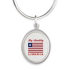 My Identity Liberia Silver Oval Necklace
