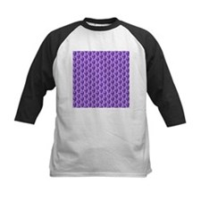 Purple Skull Pattern. Baseball Jersey