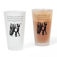 Drunken Brawl Drinking Glass