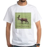 Deer Stag. Custom Text. T-Shirt