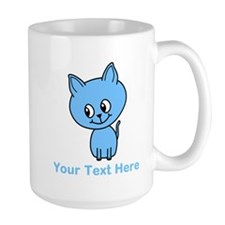 Blue Kitten. Custom Text. Mug