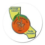 Orange County Mounted Ranger Round Car Magnet