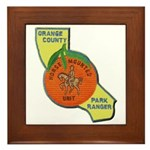 Orange County Mounted Ranger Framed Tile