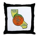 Orange County Mounted Ranger Throw Pillow